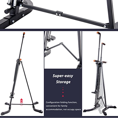 Merax Vertical Climber Exercise Folding Climbing Machine for Home Gym Folding Cardio Workout Machine