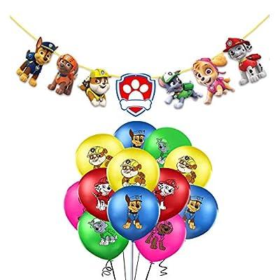 Globos Patrulla Canina Cumpleaños Paw Dog Patrol Balloons for Kids Guirnaldas Paw Dog Patrol Pancartas Paw Dog Patrol Birthday Party Balloons Gift Fiesta de Cumpleaños Suministros Decoración por rosepartyh