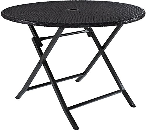 Crosley Furniture Palm Harbor Outdoor Wicker 41' Folding Table, Brown