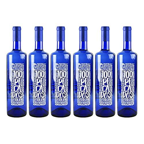 100 Pecados 100 Pecados | Vino blanco Verdejo | 6 botellas 750ml | Total 4500ml | 12°%Vol | Vino blanco joven y con personalidad que sorprende por su sabor y aroma | Vino blanco afrutado - 750 ml