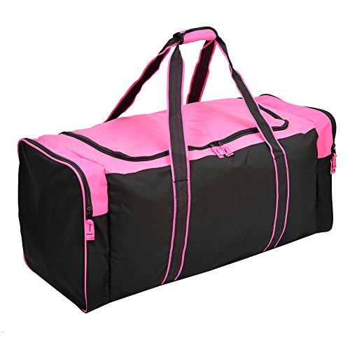 Jetstream Heavy Duty Multi Pocket Large Sports Gym Equipment 3-Pocket Travel Duffel Bag (36 Inch, Pink)