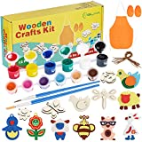 YISUYA Wooden Craft Kit for Kids Age 4-8, Kids Arts and Crafts Painting Kit, Art and Craft Supplies Party Favors for Boys Girls Age 4 5 6 7 8