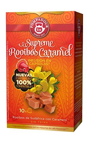 Pompadour Supreme Rooibos Caramel Té - 10 Cápsulas