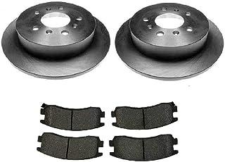 Drill Slotted Brake Rotors 4 Prime Choice Auto Parts BRKPKG004130 Front 2 Ceramic Pad