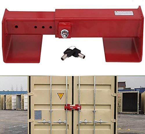 NIXFACE Heavy Duty Cargo Door Lock to secures The Vertical Lock rods on Swing Doors