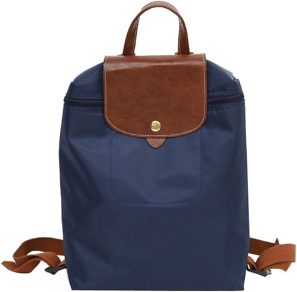 Womens Backpack Purse Zipper Max 73% Super sale OFF Nylon Folding Travel Bags Shoulder