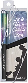 For to Us a Child is Born Isaiah 9:6 Christmas Pen and Bookmark Gift Set