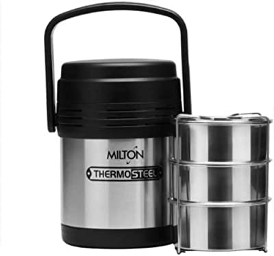 Milton thermosteelmeal008 3 Containers Lunch Box (500 ml)
