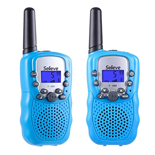Selieve Toys for 3-12 Year Old Boys and Girls, Walkie Talkies for Kids, Teen Gifts Birthday (1 Pair, Blue)