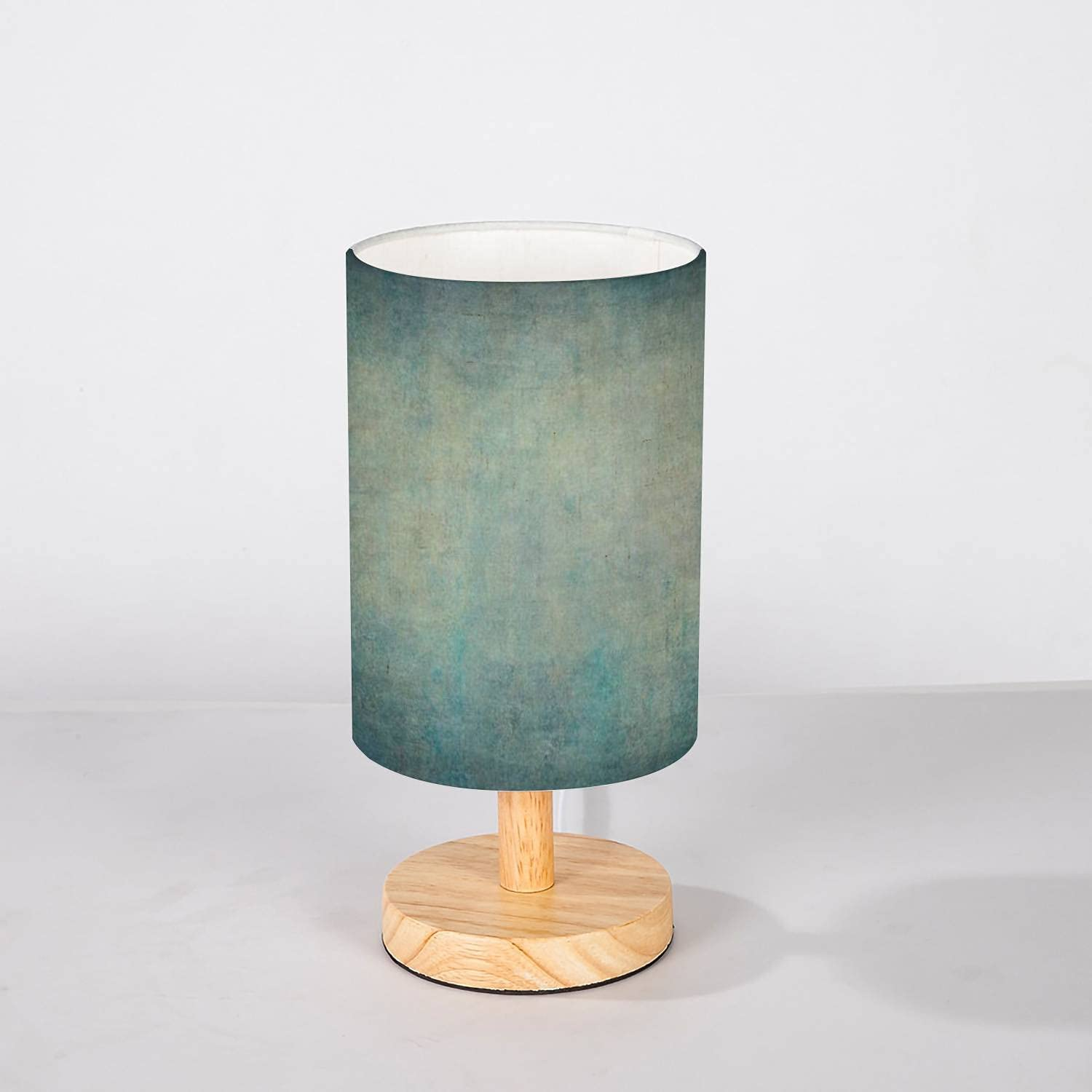 Minimalist Bedside cheap Table Lamp Turquoise Hand Paint Lowest price challenge Canvas Yellow