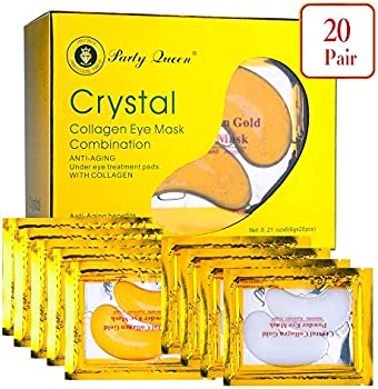20-Pair Party Queen 24K Gold Under Eye Bags Treatment Masks
