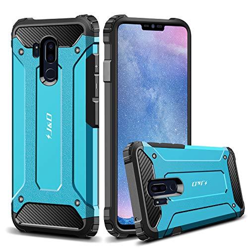 JundD LG G7 ThinQ Hülle, LG G7 Hülle, [ArmorBox] [Doppelschicht] [Heavy-Duty-Schutz] Hybrid Stoßfest Schutzhülle für LG G7 ThinQ, LG G7 - [Nicht kompatibel mit LG G6] - Blau