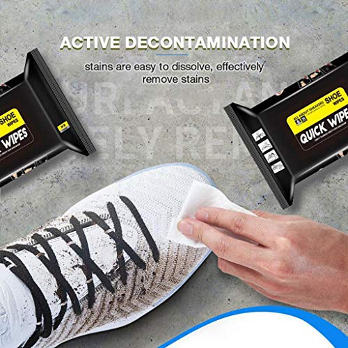Disposable Sneakers Cleaning Wet Wipes for White Shoes, 2DXuixsh Artifact Travel Portable, Decontamination Wipes, Maintenance, Easy Deep Cleaning