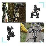 Technobebe.shop Supporto Manubrio 360 Gradi di Rotazione per Action Camera Max. Diametro di 4 cm Colore: Nero