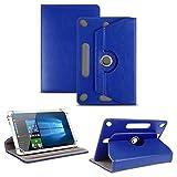 NAUC Tablet Tasche für Captiva Pad 10 3G Plus mit Ständerfunktion Hülle Schutztasche Schutzhülle Stand Tasche Etui Cover Hülle 360° drehbar, Farben:Blau