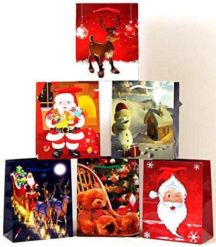 Pochettes cadeaux medium (moyen) weihnachtstasche sachet de 748 pochettes cadeaux de noël 12 Stück