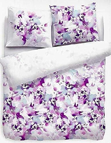 Face2Face Bettwäsche Lisa Purple/Weiß 200x200cm + 2X 50x80cm