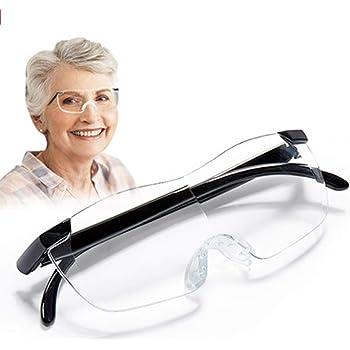 Custodia Ultra Thin Pod Plus Stick Anywhere Lente di ingrandimento compatta Lente di ingrandimento Artigianato Occhiali da Vista Regolabili con Specchio Zoom Ideale per Hobby banco da Lavoro