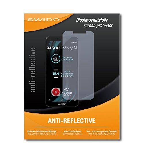 SWIDO Bildschirmschutzfolie für Allview X4 Soul Infinity N [3 Stück] Anti-Reflex MATT Entspiegelnd, Extrem Kratzfest, Schutz vor Kratzer/Bildschirmschutz, Schutzfolie, Panzerfolie