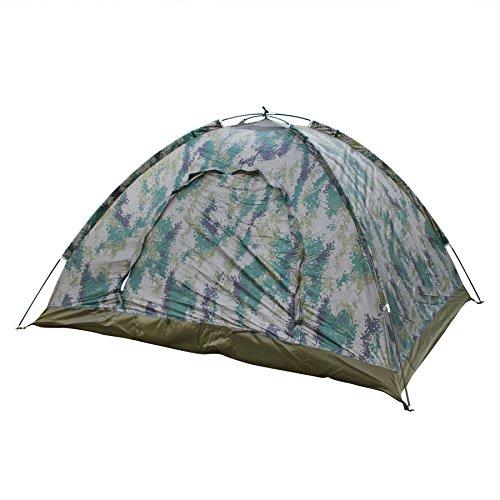 LY® Tente de Camping Camouflage pour 2 Personnes Tente Dôme Etanche pour Vacances Activités de Plein Air Facile à Monter 200×150×110cm