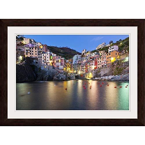 GREATBIGCANVAS Riomaggiore, Cinque Terre National Park, Province of La Spezia, Liguria, Italy, Europe. White F.