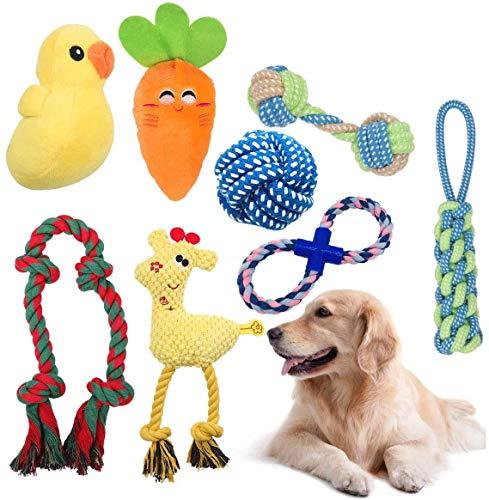 HomeMall Hundespielzeug Quietschenspielzeug,Seil...