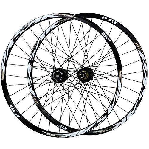 ZNND 26/27,5/29 Pulgadas Rueda para Bicicletas, Aleación De Aluminio Pared Doble Frenos De Disco Eje Barril De 12/15MM Llanta Bicicleta De Montaña (Color : Gold, Size : 27.5in/20mmaxis)