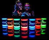 UV Body Paint (7 x 0.75oz) Black Light Paint Black Light Makeup Bodypainting Neon Body Paint UV...