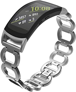 Watch Band,Cinhent Stainless Chain Bracelet Smart Strap for Sansung Gear Fit 2/ Fit 2Pro