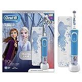 Oral-B - Cepillo de dientes eléctrico para niños, recargable por Braun, 1 asa y 1 funda de viaje con Disney Frozen 2, para edades 3 +