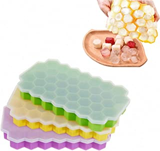 Youzpin Variety Shape 3D Honeycomb Candle Silicone Molds,DIY Beehive Shaped Handmade Soap Clay Mould,Fondant,Chocolate,Candy,Pudding,Cake Decorating Baking Mold~Random Color