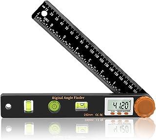 zhihu デジタルレベル 分度器0〜360° 4 in 1 水準器 LCDディスプレイ 水平器 シンワ測定 ゴニオメーター 角度計 ジタル傾斜計 距離測定器 ロック機能搭載