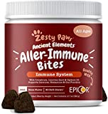 Zesty Paws Ancient Elements Allergy & Immune Bites for Dogs - Omega 3 Wild Alaskan Salmon Fish Oil & EpiCor + Digestive Probiotics - for Dog Seasonal Allergies + Anti Itch & Skin Hot Spots - 90 Count