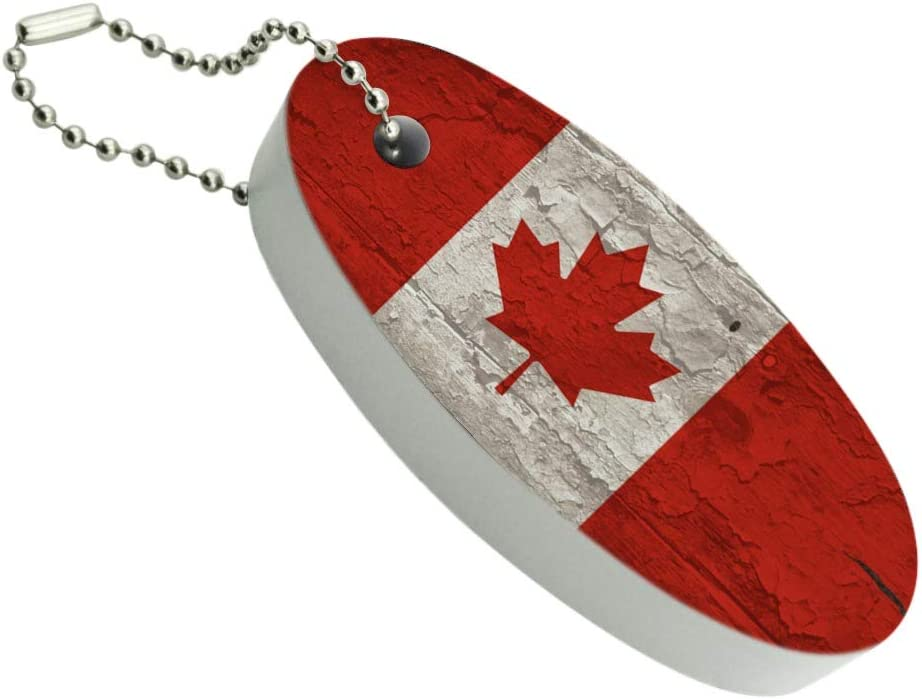 Graphics and More Save money Rustic Distressed Flag Canada Save money Floating on Wood