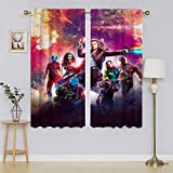 Panel de cortina opaca con aislamiento térmico y bajo consumo de ruido, cortinas adorables y duraderas para dormitorio de 55 pulgadas de ancho x 45 pulgadas de largo