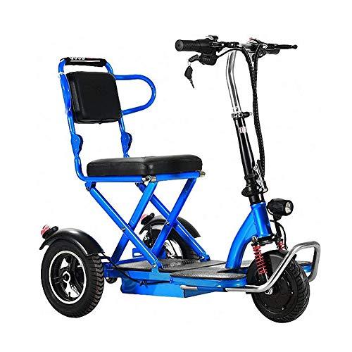 YEDENGPAO Scooter eléctrico para adultos con Seat 350 W Kick Kilometrage Suite Scooter plegable Big Wheel Electro Bike,40 km