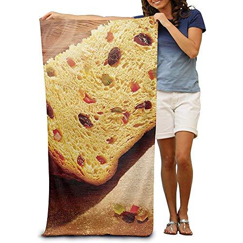 utong 100% Baumwolle Strandtücher 80x130cm Quick Dry Handtuch für Schwimmer Brot Essen Stranddecke