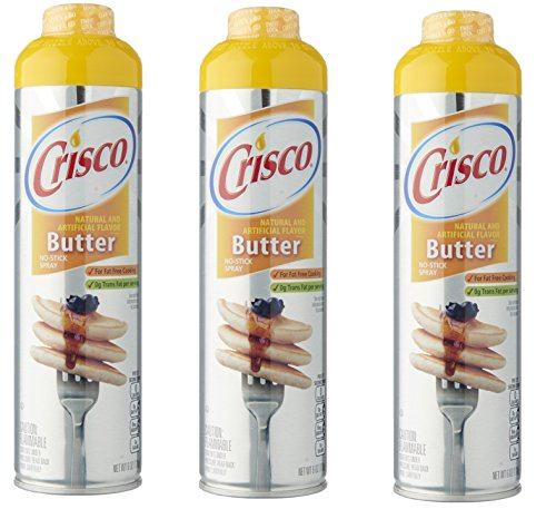 Crisco Butter Flavor Non Stick Cooking Spray- 3 Pack
