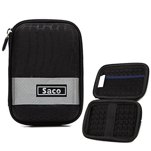 Saco External Hard Disk Hard Case Pouch Cover Bag for Transcend StoreJet...