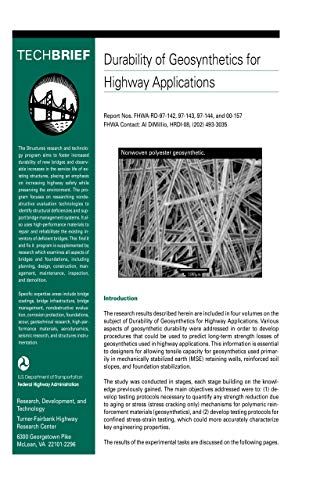 Durability of Geosynthetics for Highway Application (TechBrief), FHWA-RD-01-050)