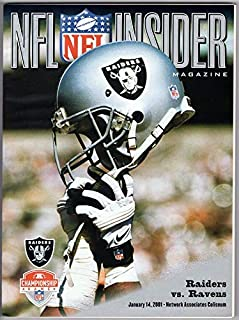 2001 NFL PROGRAM RARE Raiders vs. Ravens AFL Championship Game 130491