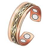 WOLLET MAGNETIC JEWELRY® anello magnetico di rame per artrite, da uomo e da donna