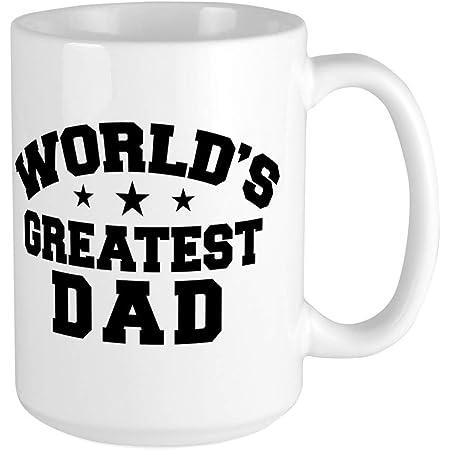 CafePress World's Greatest Dad Large Mug Coffee Mug, Large 15 oz. White Coffee Cup