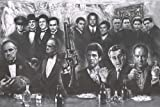 (39x54') Gangsters Collage - Movie Gods Giant Art Poster Print - Drawing - Go...