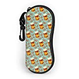 Custodia protettiva per occhiali da vista portatile ultraleggera con clip da cintura, salatini alla birra