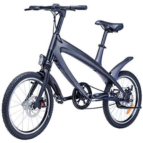 LOO LA 20 Zoll E-Bike Trekking und City Bike für Damen - E-Lady Weiss mit Vorderradmotor 250W, 36V Front and Rear Double disc Brake + EBS Electronic Brake