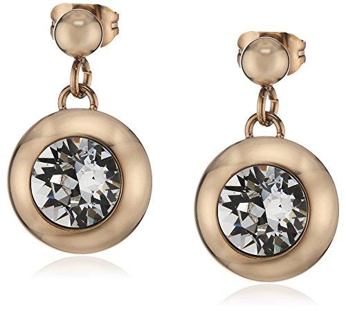 s.Oliver Jewel SO1072 - Pendientes de acero inoxidable con cristal swarovski con cierre de mariposa a presión