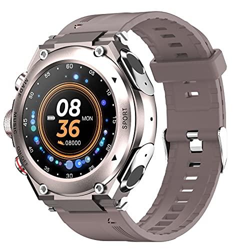 Ksodgun Reloj inteligente con auriculares inalámbricos Pulsera de actividad 2 en 1 Auriculares Música MP3 Llamada Rastreador de actividad Monitor de ritmo cardíaco y sueño Compatible con teléfonos IOS