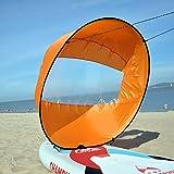 Kayak Viento Vela, Kayak Plegable Durable del Viento Vela con Bolsa de Almacenamiento, paletas de Paddle portátil Vela Vela Canoa instantánea para Kayak Barco Velero Canoa,Amarillo