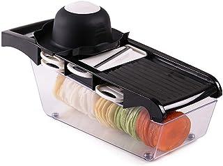 ZHTY 6 en 1 végétale et Coupe de Fruits ABS Square Square Manuelle Slicer Cuisine Charesse d'acier Inoxydable Professionne...